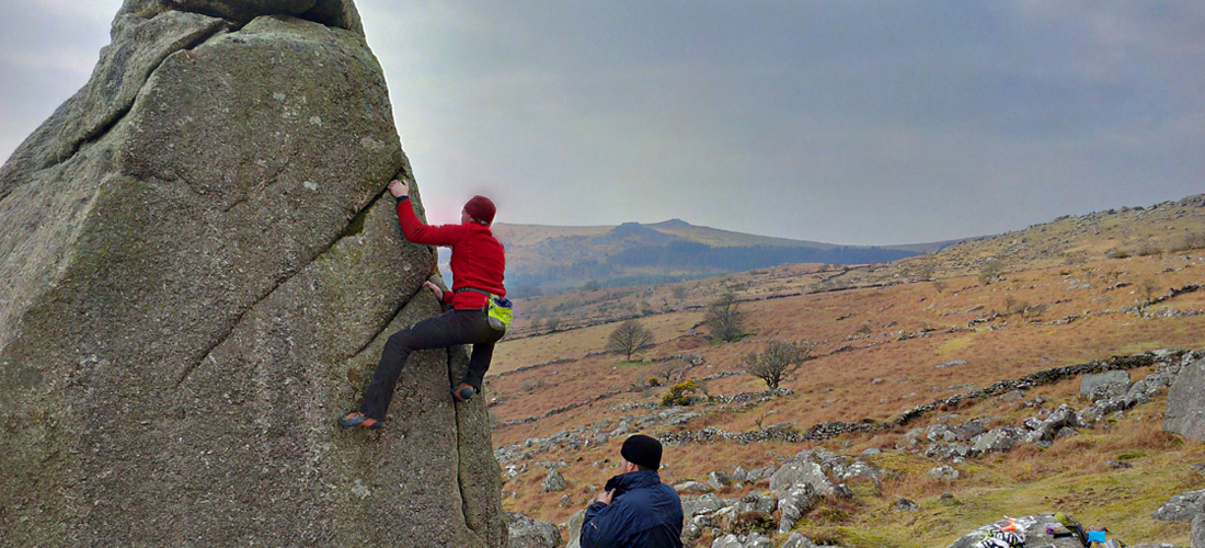 Bouldering photos from Combeshead Tor, Dartmoor