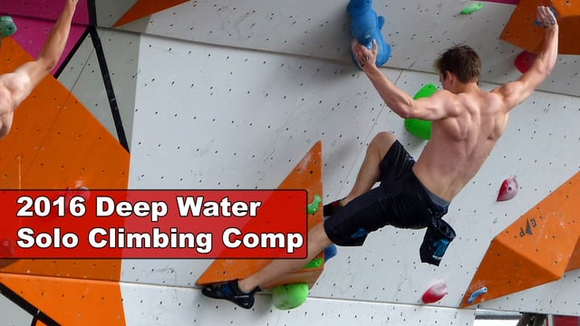 2016 Deep Water Solo (DWS) Climbing Competition, Exeter