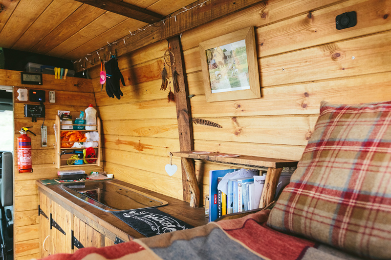 The interior of my Vauxhall Movano self-built camper van