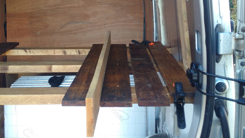 Getting a uniform gap in the bed slats