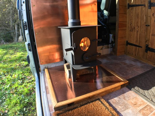 Having the first burn in my newly installed woodburner
